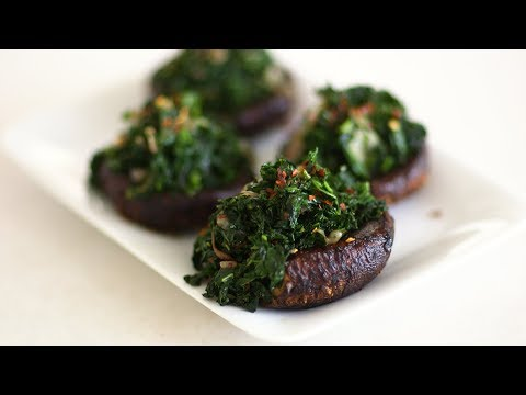 Roasted Portobellos with Kale- Healthy Appetite with Shira Bocar