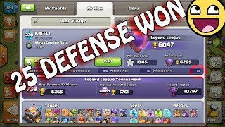 OMG Impossible 25 Defense Won In Legend League? th 11 Best Defense Base Ever I Best defense base