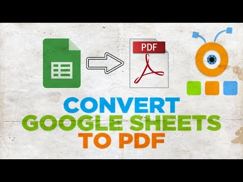 How To Convert Google Sheets To PDF Using Google Drive