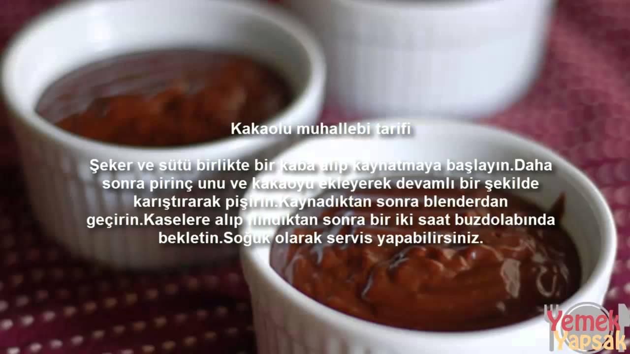 Kakaolu Muhallebi Tarifi