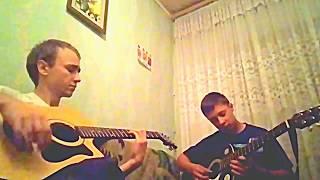 Витя матанга- Как она меня выносит на двух гитарах