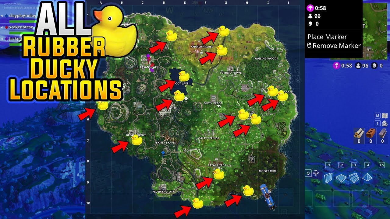 Fortnite All Rubber Ducky Locations Search 10 Rubber