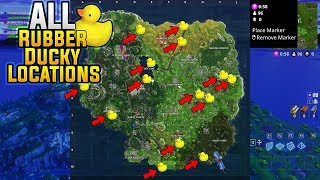 Fortnite ALL Rubber Ducky Locations! Search 10 Rubber Duckies ALL Locations Challenge