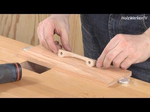 Mobelbau So Platzieren Sie Mobel Griffe Haargenau Youtube