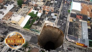 BOTTOMLESS GIANT SINK HOLE - real or fake