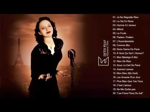 Edith Piaf Greatest hits playlist   Collection HD HQ