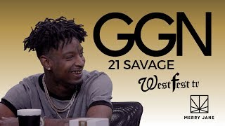 21 Savage Gets Advice About Studios, Super Powers, and White Women from Uncle Snoop | GGN News