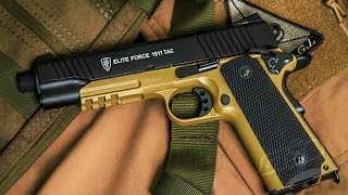 Elite Force 1911 TAC CO2 Blowback Pistol Unboxing and Review