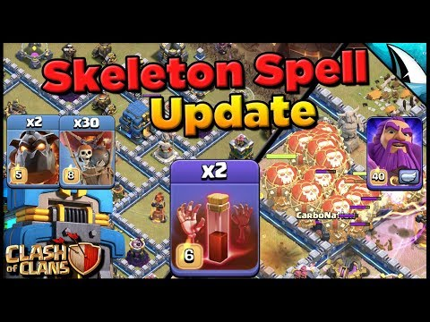 *Wrecking TH 12 Bases!!* New Skeleton Spell In Upcoming Update | Clash Of Clans