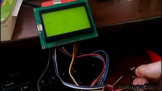 Подключение графического дисплея 128х64 к ардуино