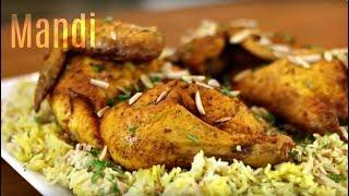 Chicken Mandi Recipe _ How to make Chicken Mandi with Smokey Flavored Rice