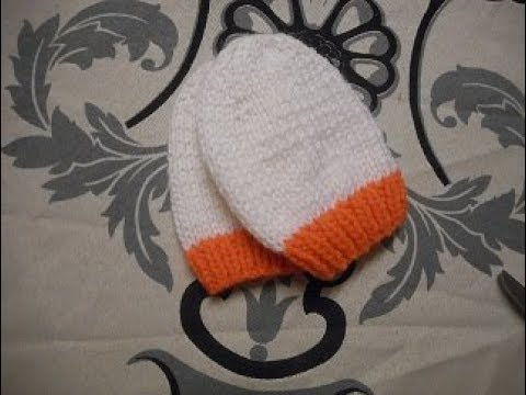 edec58ff0d6 tuto tricot moufle bébé 3 6 mois - YouTube