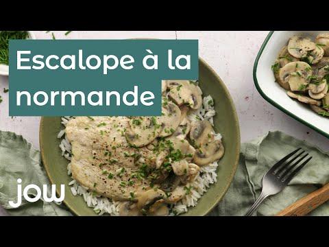 recette-de-l'escalope-à-la-normande-express