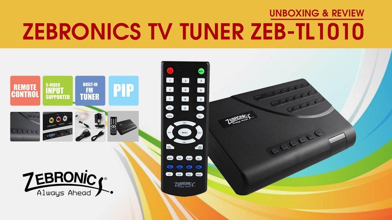 Zebronics TV Tuner ZEB TL1010 (Unboxing & Review)