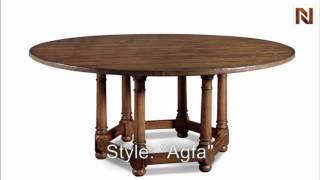 Bernhardt Vintage Patina Round Dining Table (72 Inch) 322-275 Tobacco