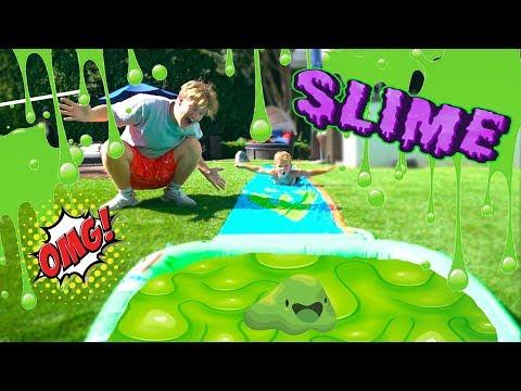 Slime Slip N Slide With mini Jake Paul