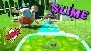 Slime Slip N Slide With mini Jake Paul