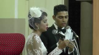 Roshal John Wedding day church singing in Konkani