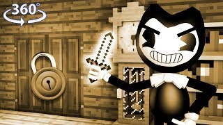 360° Minecraft Bendy And The Ink Machine - BENDY THE KILLER - Ep 4 - 360° Minecraft Video