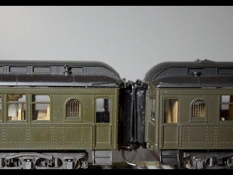 Body Mounted Couplers On Rivarossi Heavyweight Passenger Cars 01-13-16-w/Addendum & Music