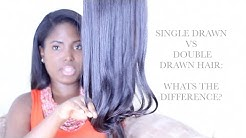 SINGLE DRAWN & DOUBLE DRAWN HAIR EXTENSIONS | WHATS THE DIFFERENCE?