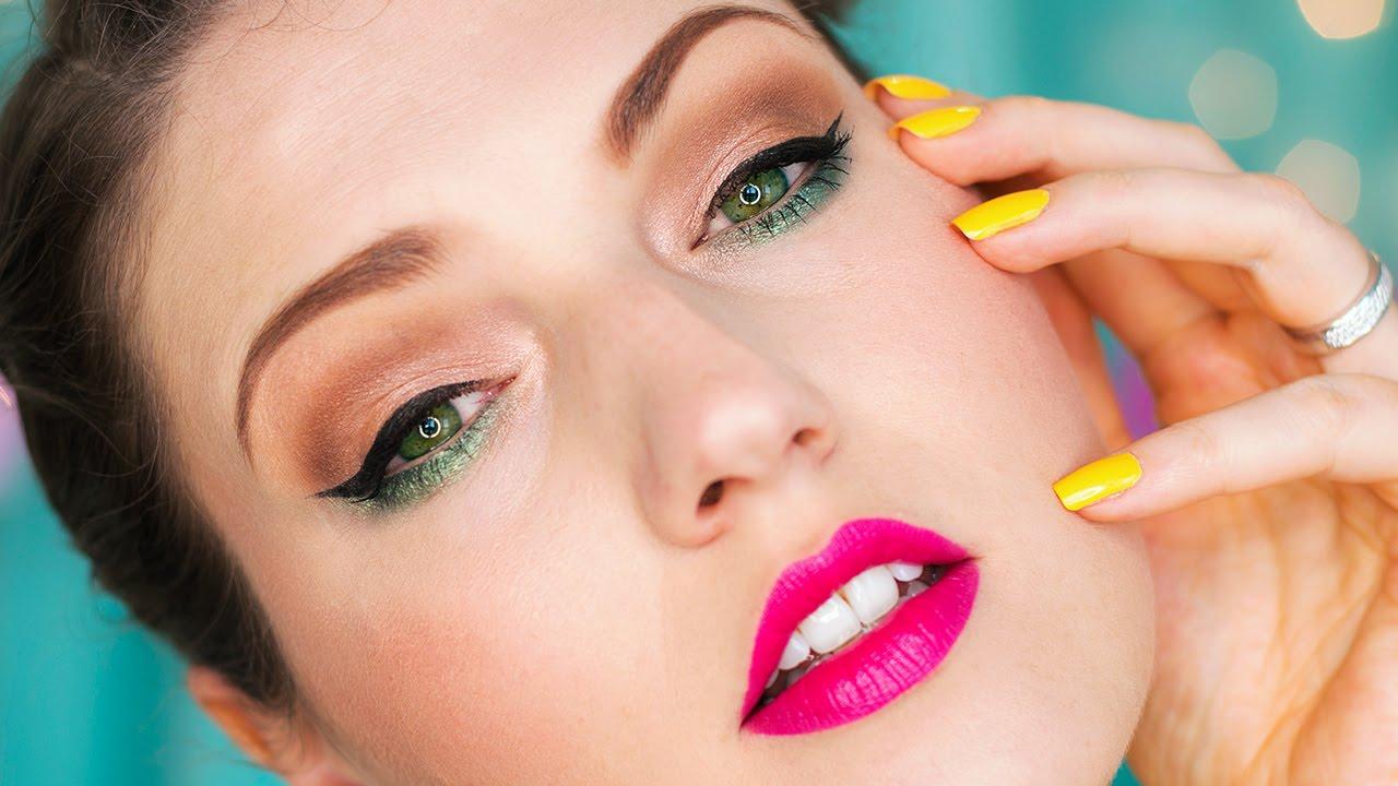 Bright Color Pop Summer Makeup