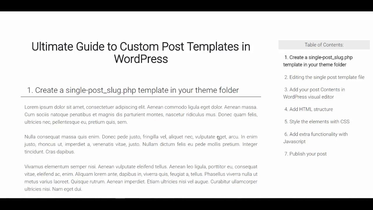 How to create single post template in wordpress youtube how to create single post template in wordpress maxwellsz