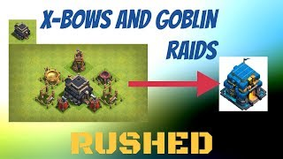 X bows, Archer Queen prep, and Gobbo raids - Rush to town hall 12 pt8 - Clash of clans