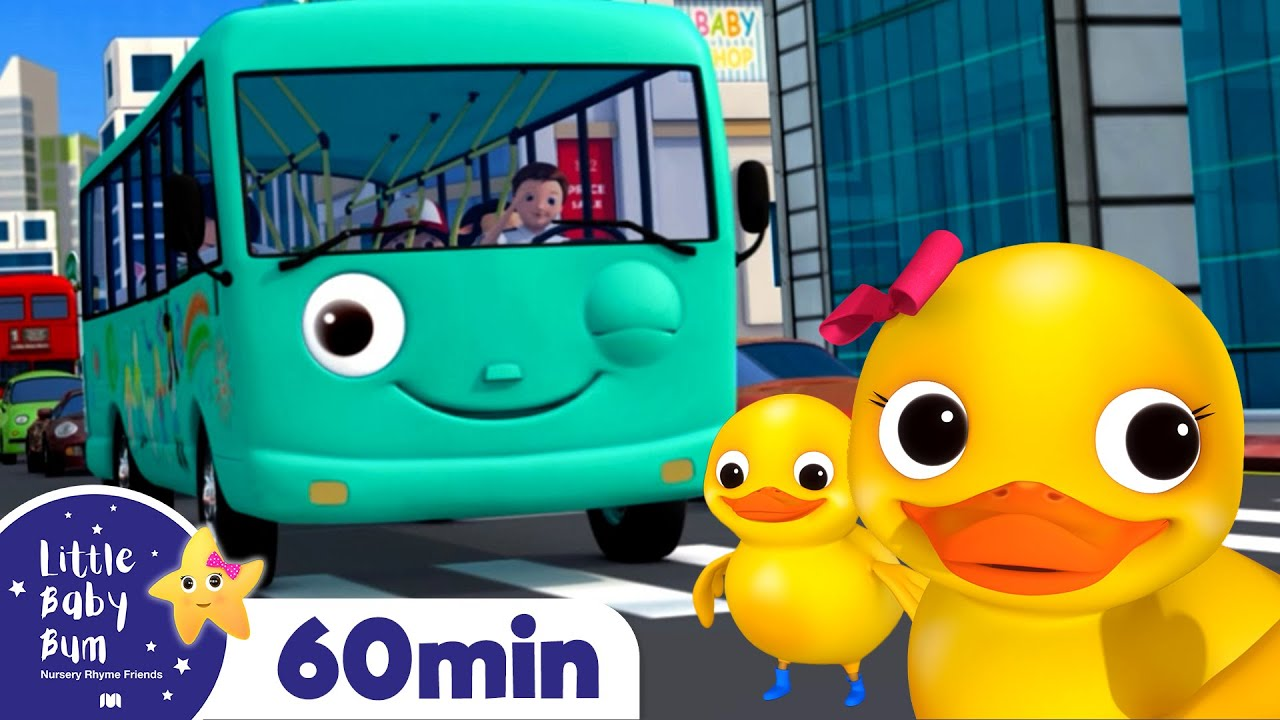 Wheels On The Bus And Ducks +More Nursery Rhymes and Kids Songs | Little Baby Bum