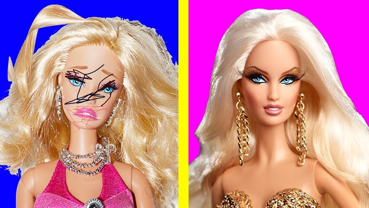 DIY Barbie AWESOME HAIR TRANSFORMATIONS | Barbie Doll Hairstyles | Barbie Hairstyle Tutorial for ...