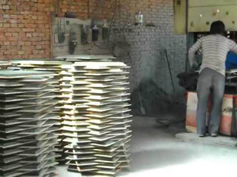 Terrazzo Making Machine Terrazzo Tile Making Machine Youtube
