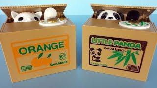 Funny Kids saving box Cat stealing coin piggy bank by Mischief Itazura