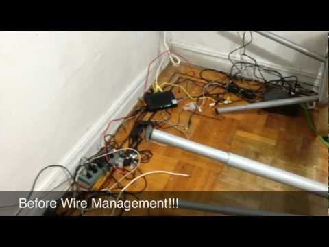 "Wire/Cable Management and UPS ""Uninterruptible Power Supply"""
