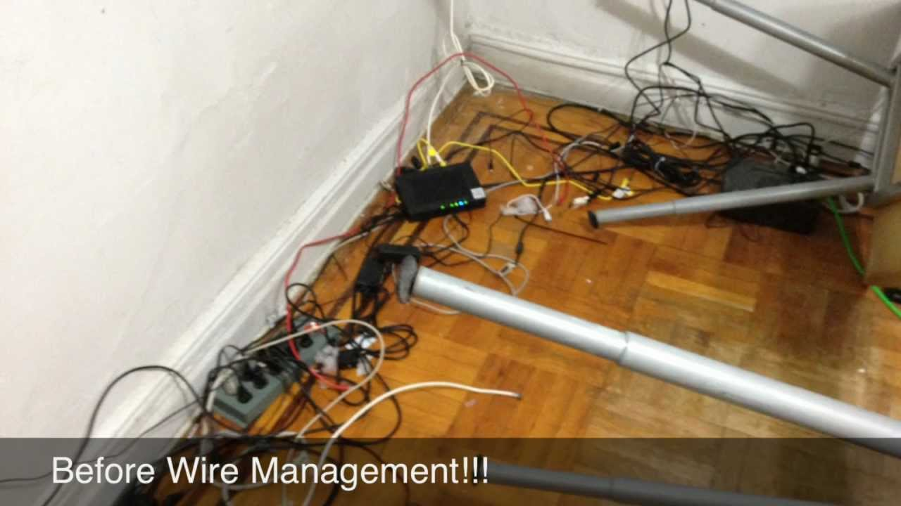 """Wire/Cable Management And UPS """"Uninterruptible Power"""