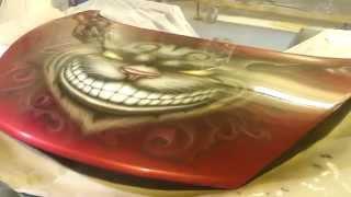 Уроки аэрографии видео рисуем Чеширского кота.Video Lessons airbrushing draw Cheshire Cat.(Уроки аэрографии видео рисуем Чеширского кота.Video Lessons airbrushing draw Cheshire Cat., 2015-07-18T10:44:01.000Z)