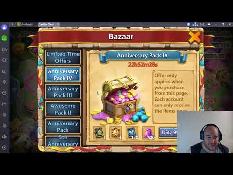 Castle Clash Bazaar Buying $100 Pack, Talking About Rewards