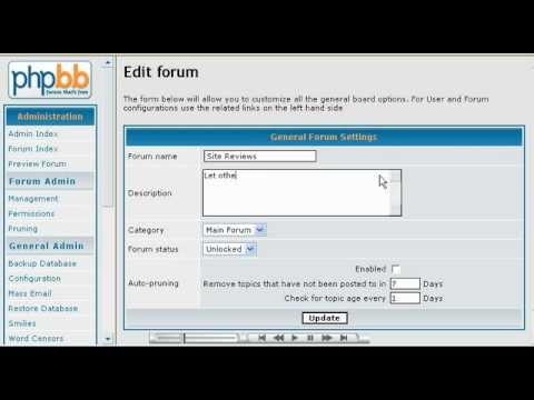How to Create and Manage Forums phpBB - Host Department LLC