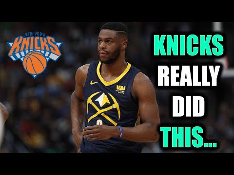 KNICKS TRADED FOR EMMANUEL MUDIAY!! FINALLY A STAR PG...