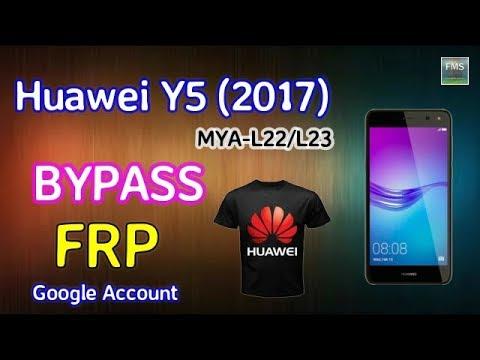 HUAWEI Y5 2017 MYA L22  FRP Lock Remove Google account Bypass New Method...