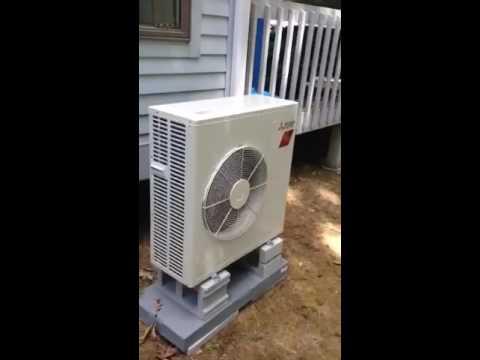 mitsubishi 18,000 btu hyper heat pump in pelham, mass. - youtube