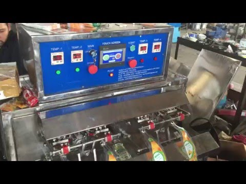 Juice pouch filling machine, Shape pouch filling machine, Pouch filling machine, Shape bag filling