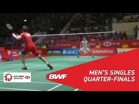 MS | CHOU Tien Chen (TPE) [6] vs Hans-Kristian Solberg VITTINGHUS (DEN) | BWF 2018