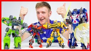 Видео #Трансформеры КРУТАЯ Команда Автоботов Игры для мальчиков Игрушки Автоботы и Десептиконы