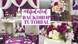 New! Party and Dessert Table Backdrop Tutorial + A Surprise Ending