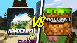 MINECRAFT POCKET EDITION VS HAND CRAFT! - (Pocket Edition, HandCraft)