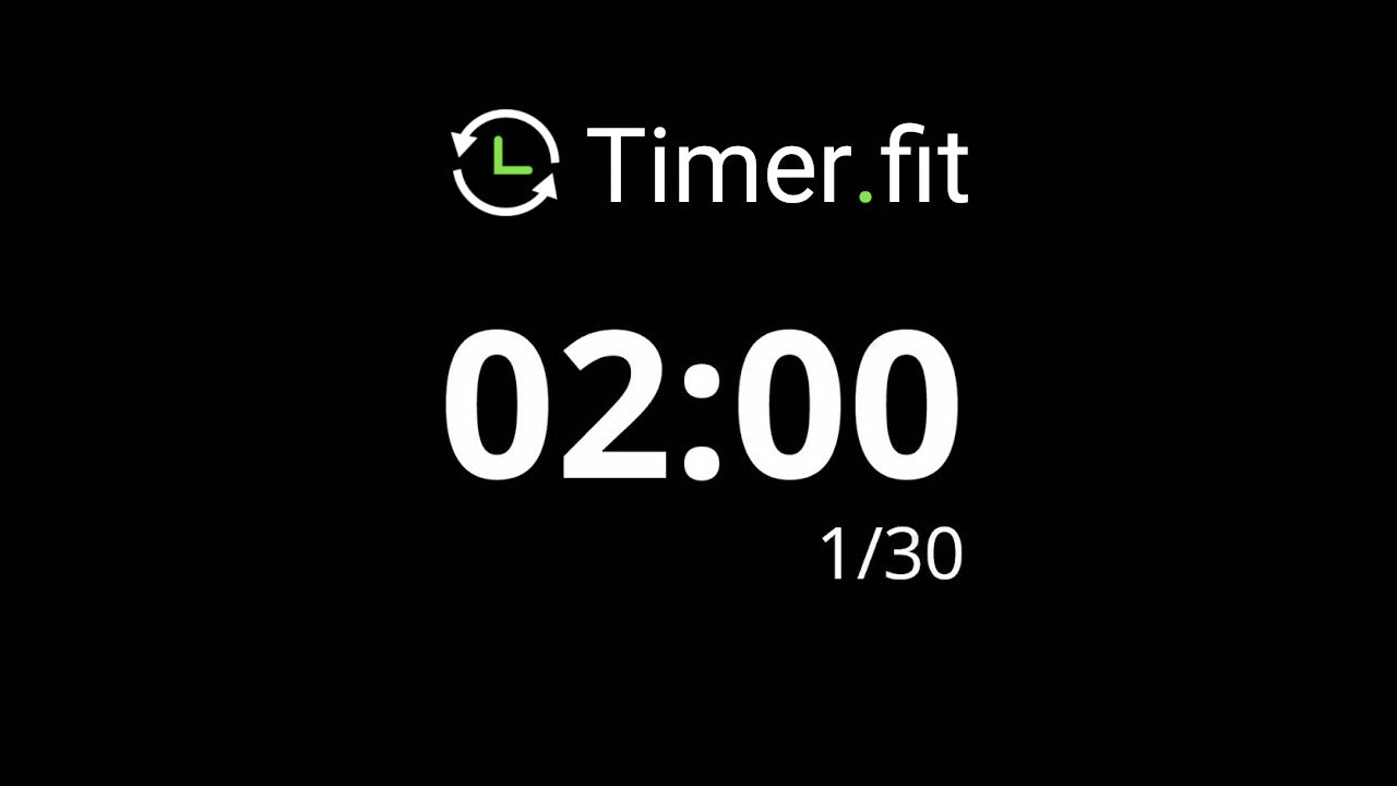 2 Minute Interval Timer with 30 Seconds Rest