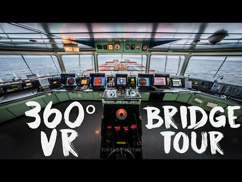 360 Video - Bridge of the 323m Mega Ship (LG 360 VR CAM)