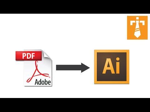 Illustrator Tutorial - How To Edit A PDF