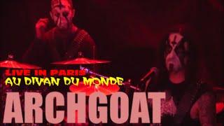 ARCHGOAT LIVE IN PARIS AU DIVAN DU MONDE LE 28 JANVIER 2015