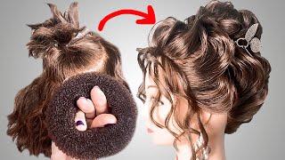 Прически бесплатно Прическа на короткие вьющиеся волосы на Выпускной Short Hairstyles LOZNITSA
